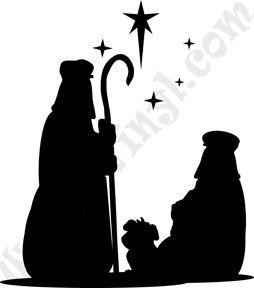 254x288 Christmas Shepherds Silhouette