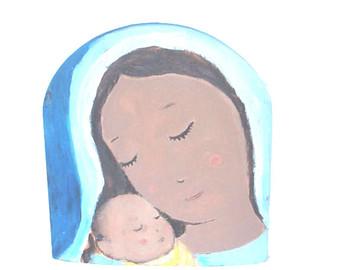 340x270 Mary And Baby Jesus Etsy