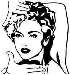 236x251 Madonna Stencil