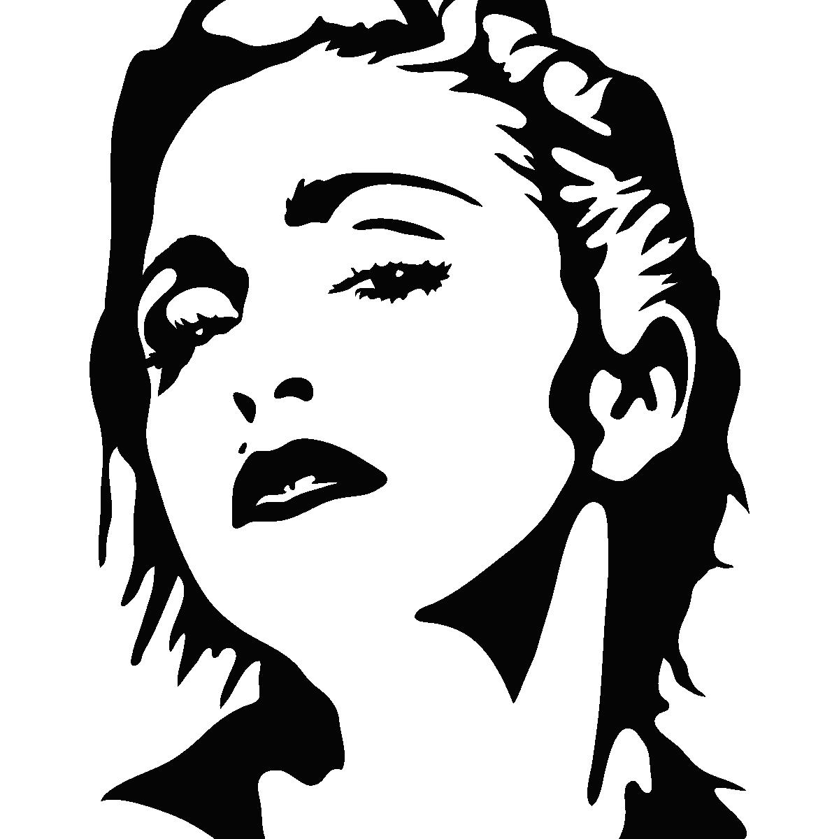1200x1200 Sticker Madonna Ambiance