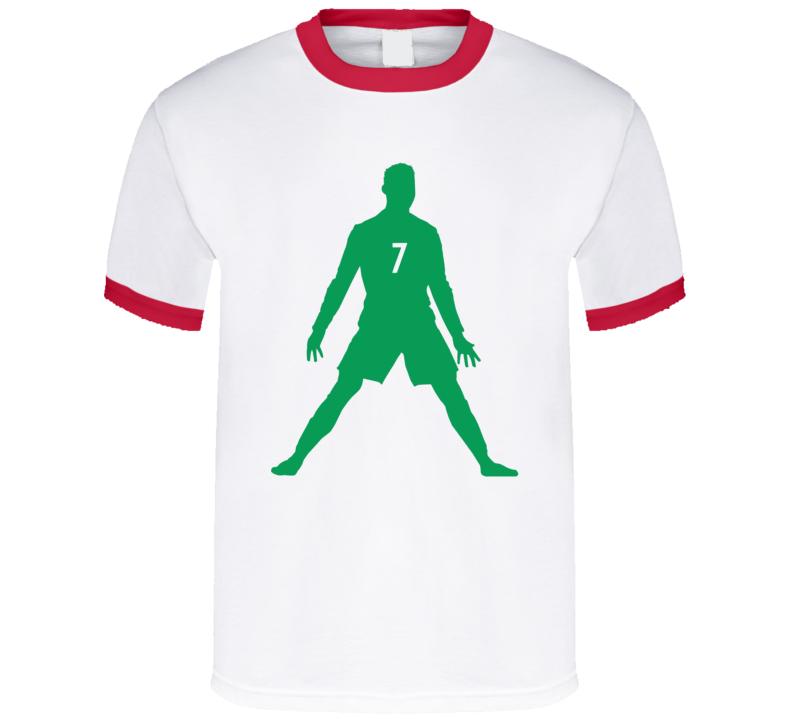 792x719 Cristiano Ronaldo Real Madrid Portugal Silhouette 2 T Shirt