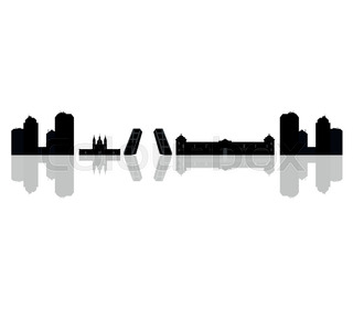 320x280 Silhouettes Of Cities In Spain Stock Vector Colourbox