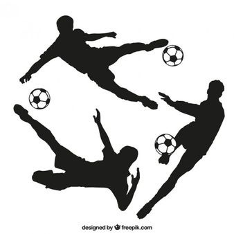 338x338 36 Best Futebol Silhuetas Images On Futbol, Silhouette