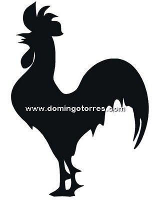 304x400 37 Chp Silueta Chapa Gallo Stencil Stenciling
