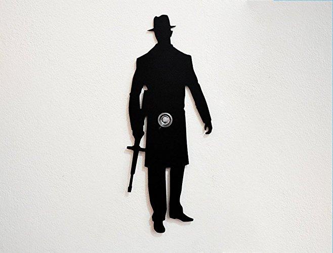 658x500 American Mafia Gangster Silhouette