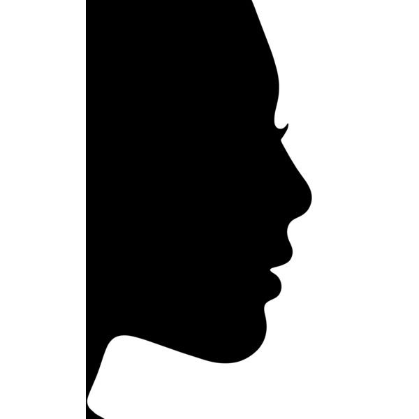 600x600 Silhouette Woman Profile Liked On Polyvore Featuring People