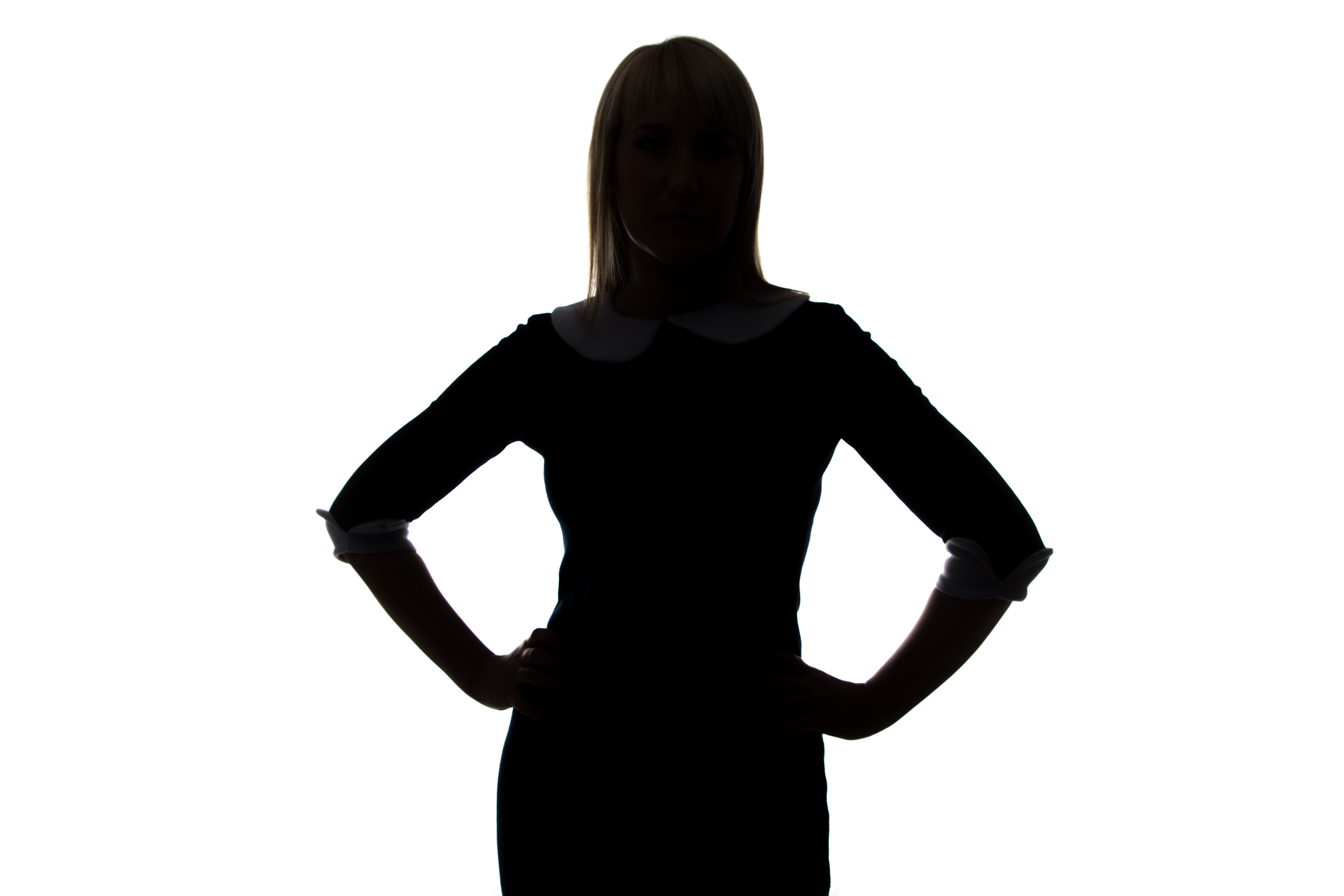 2121x1414 Silhouette Of Young Woman With Hands On Hip