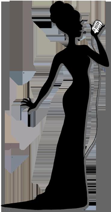 370x703 Female Silhouette Singers