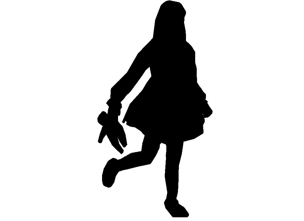 989x718 Silhouette Girl