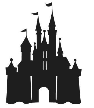 324x370 Disney Castle Silhouette Vinyl Decal Sticker Car Window Laptop