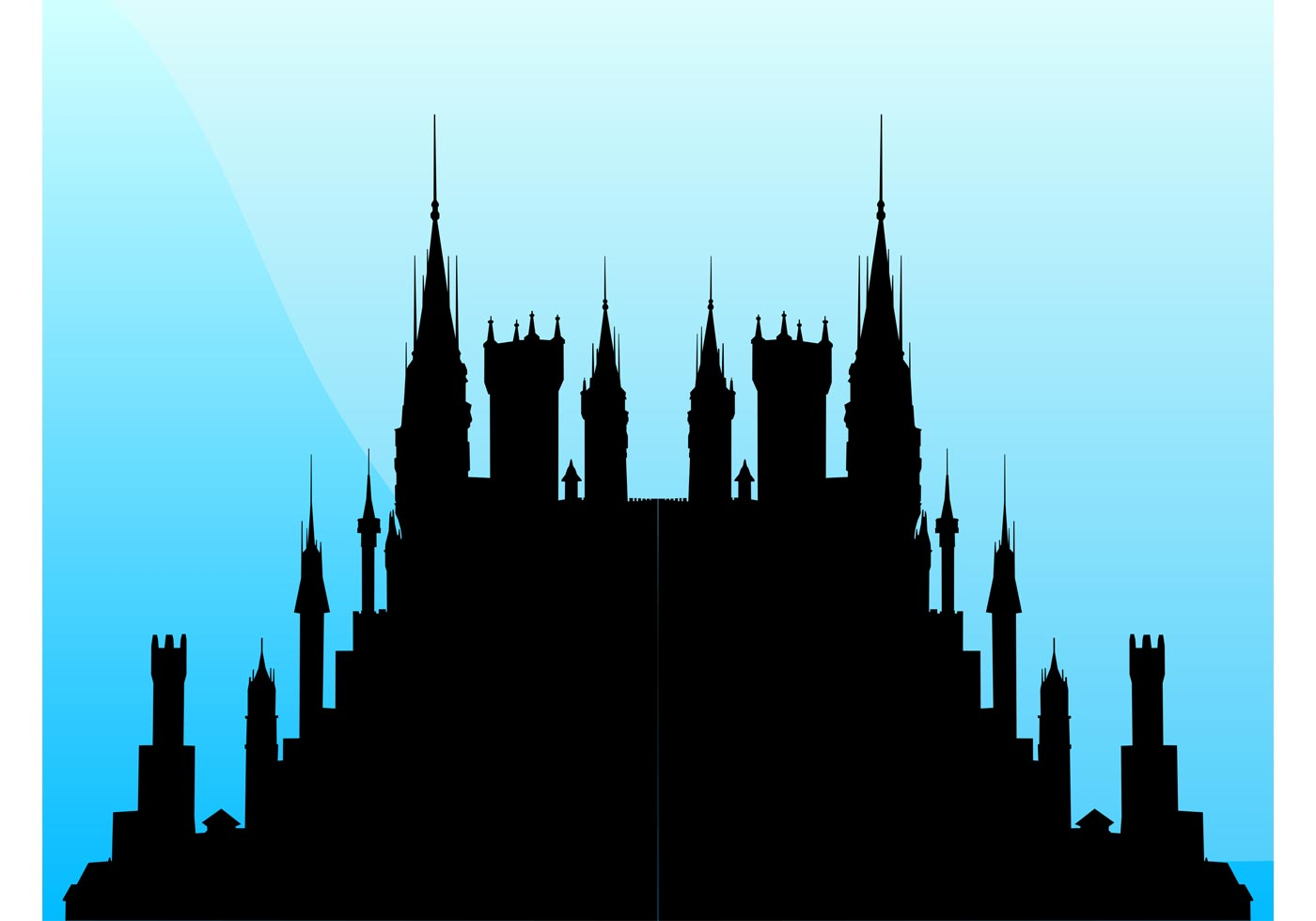 1400x980 Magic Castle Free Vector Art