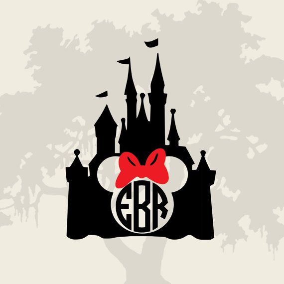 570x570 Magic Kingdom Monogram Frame For Use With Your Favorite Cutting