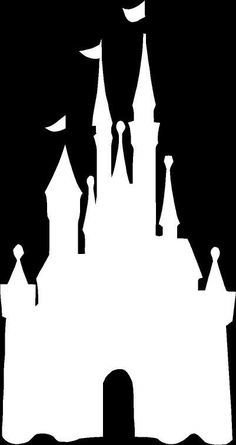 236x445 Disney Magic Kingdom Castle Silhouette White Vinyl Car