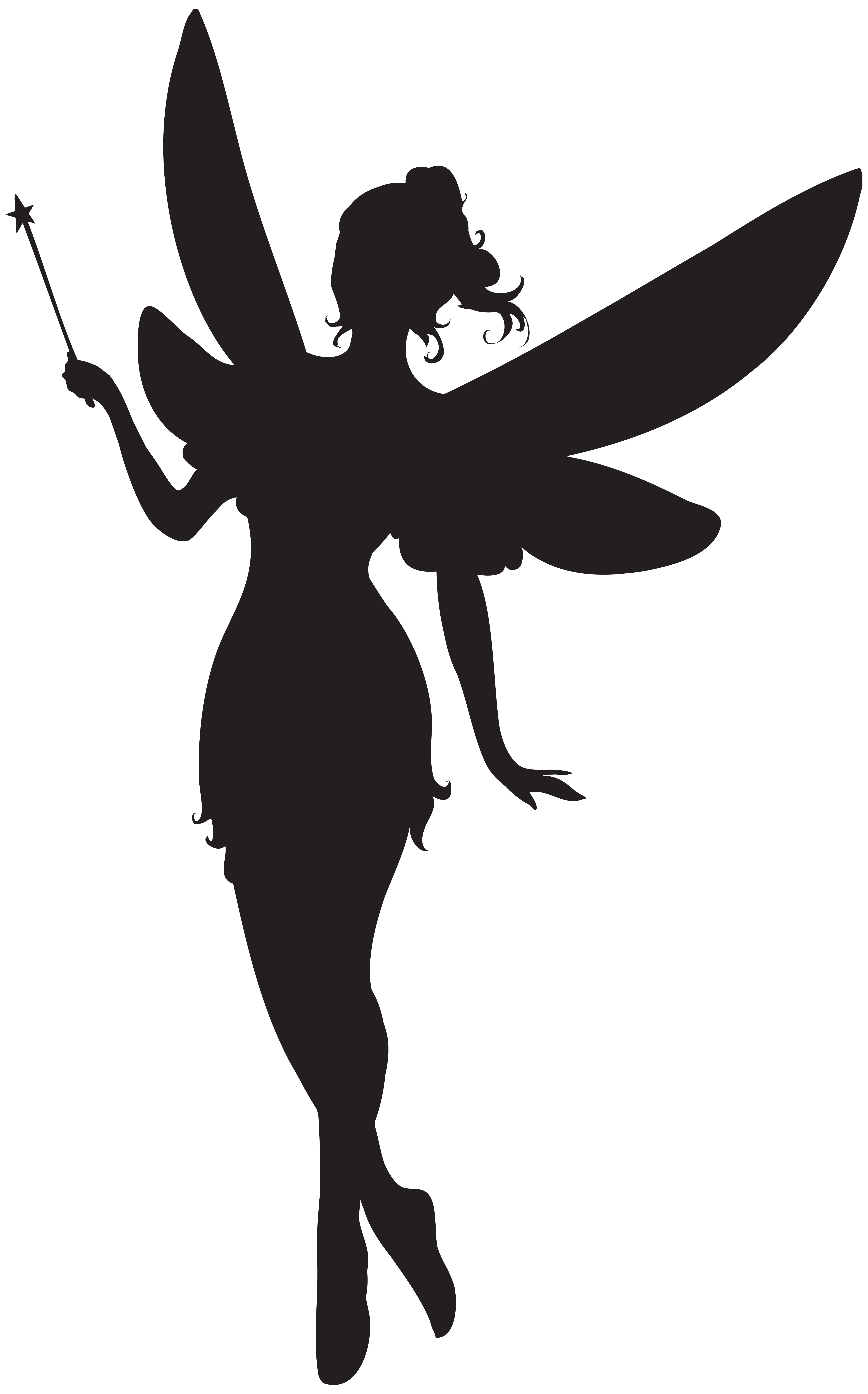 4984x8000 Fairy With Magic Wand Silhouette Png Clip Artu200b Gallery
