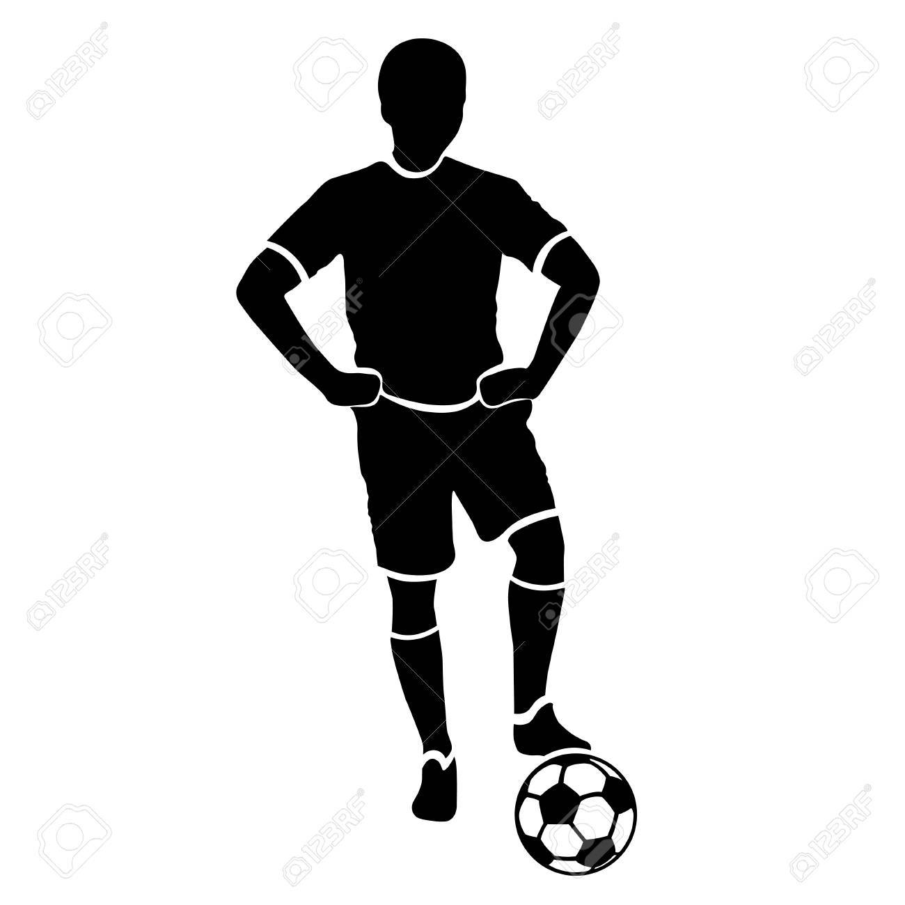 1300x1300 Magic Football Player Outline Very High Quality Detailed Soccer