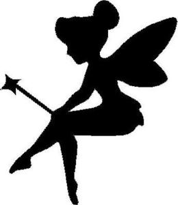 260x300 Fairy Silhouette With Wand Vinyl Decalsticker Car Truck Window