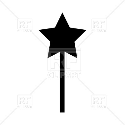 400x400 Magic Wand Silhouette Royalty Free Vector Clip Art Image