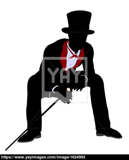 413x512 Male Magician Illustration Silhouette Image