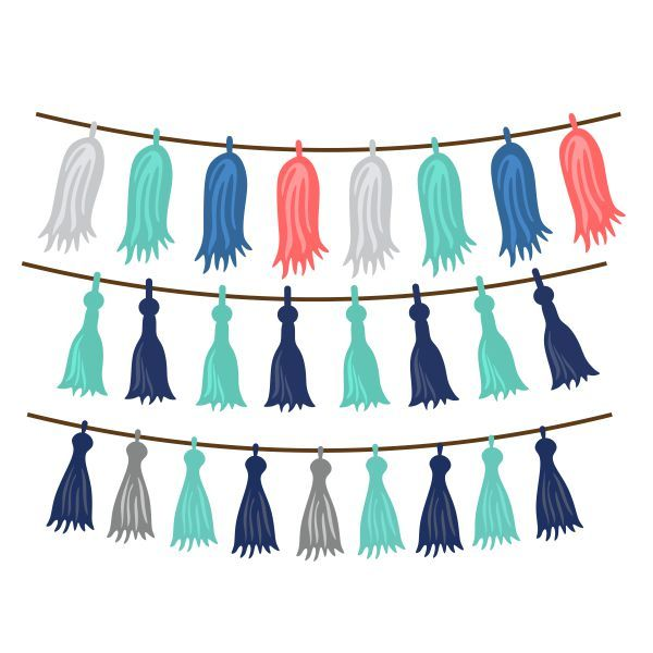 600x600 Tassel String Cuttable Design Cut File. Vector, Clipart, Digital