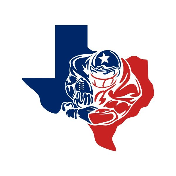 600x600 Texas Football Cuttable Design Cut File. Vector, Clipart, Digital