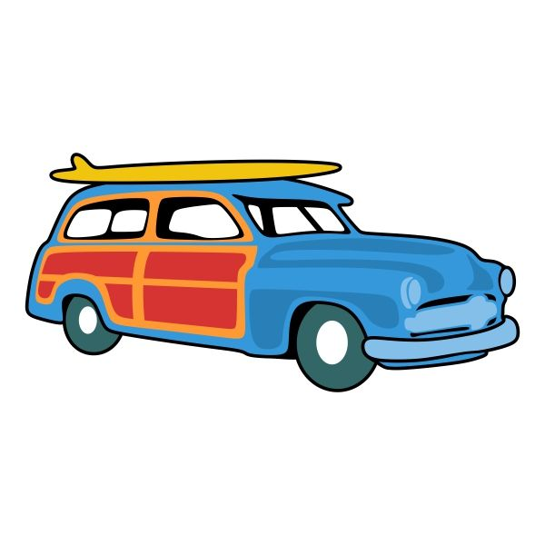 600x600 Woody Car Svg Cuttable Design Cut File. Vector, Clipart, Digital