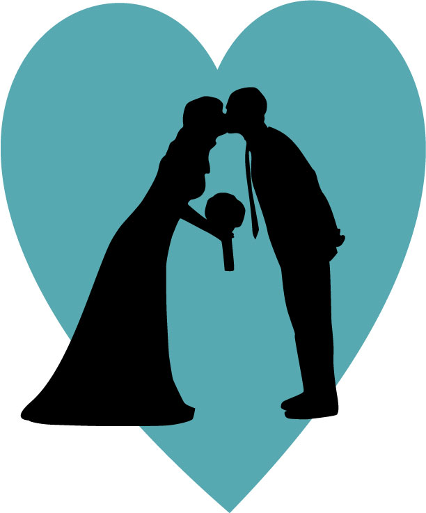 612x738 Making Your Own Wedding Silhouette