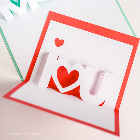 550x550 Use A Silhouette To Make Your Own Mother's Day Pop Up Cards. Free