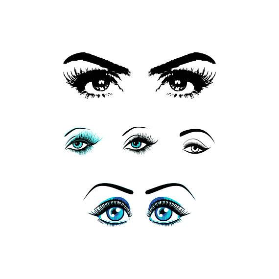 570x570 Eyelashes Svg Makeup Svg Eyes Svg Makeup Eyes Svg Stylist Svg