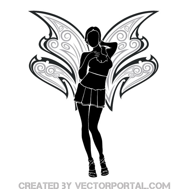 660x660 The Angel Free Vector Art 123freevectors