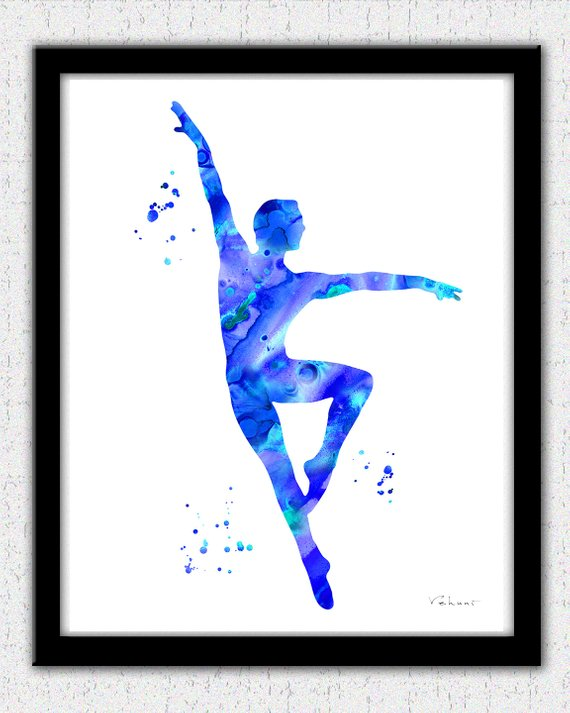 570x713 Ballet Dancer Print Male Ballet Dancer Print Ballet