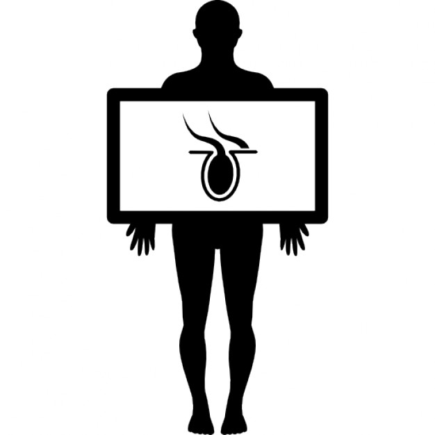 626x626 Male Silhouette With Body Organ In X Ray View Icons Free Download