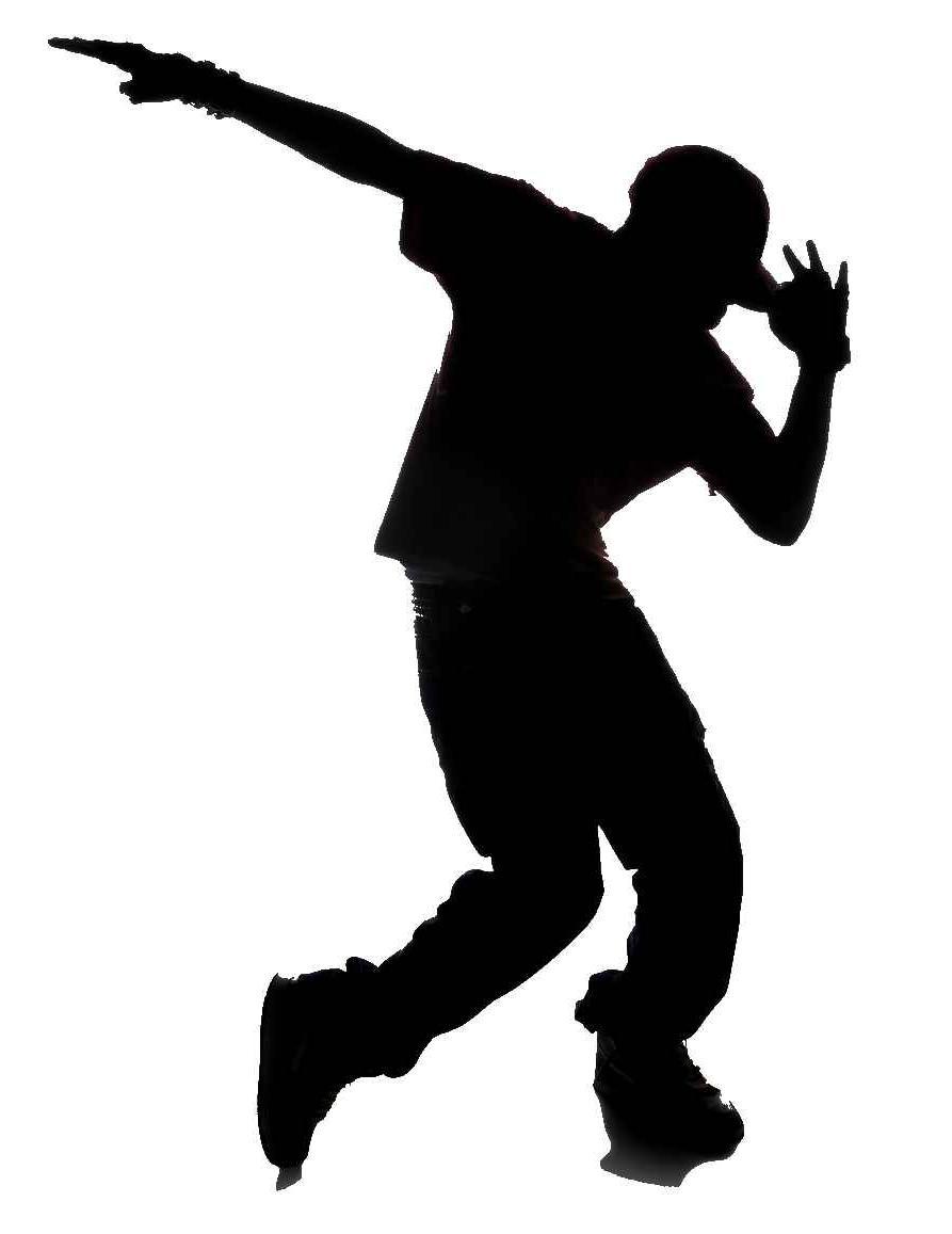 893x1157 Male Jazz Dancer Silhouette