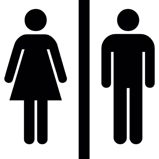 626x626 Female And Male Silhouettes With A Vertical Line In The Middle