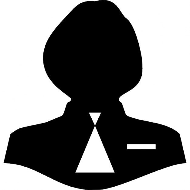 626x626 Woman Female Silhouette With Male Tie Icons Free Download