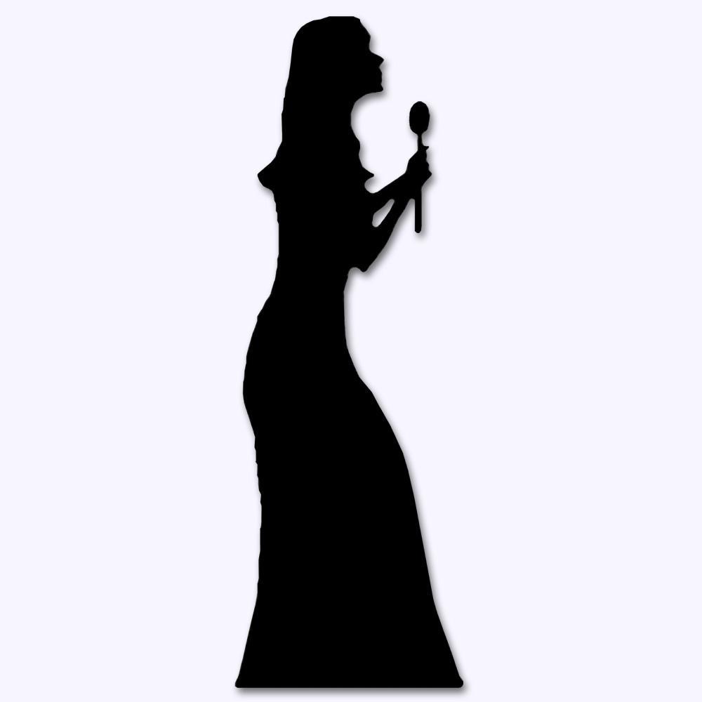 1000x1000 Female Singer Clipart