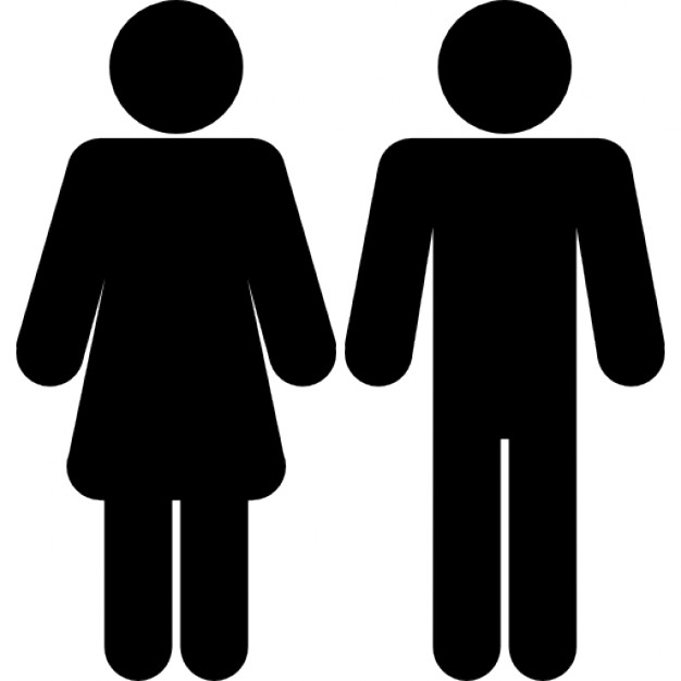 626x626 Female And Male Shapes Silhouettes Icons Free Download
