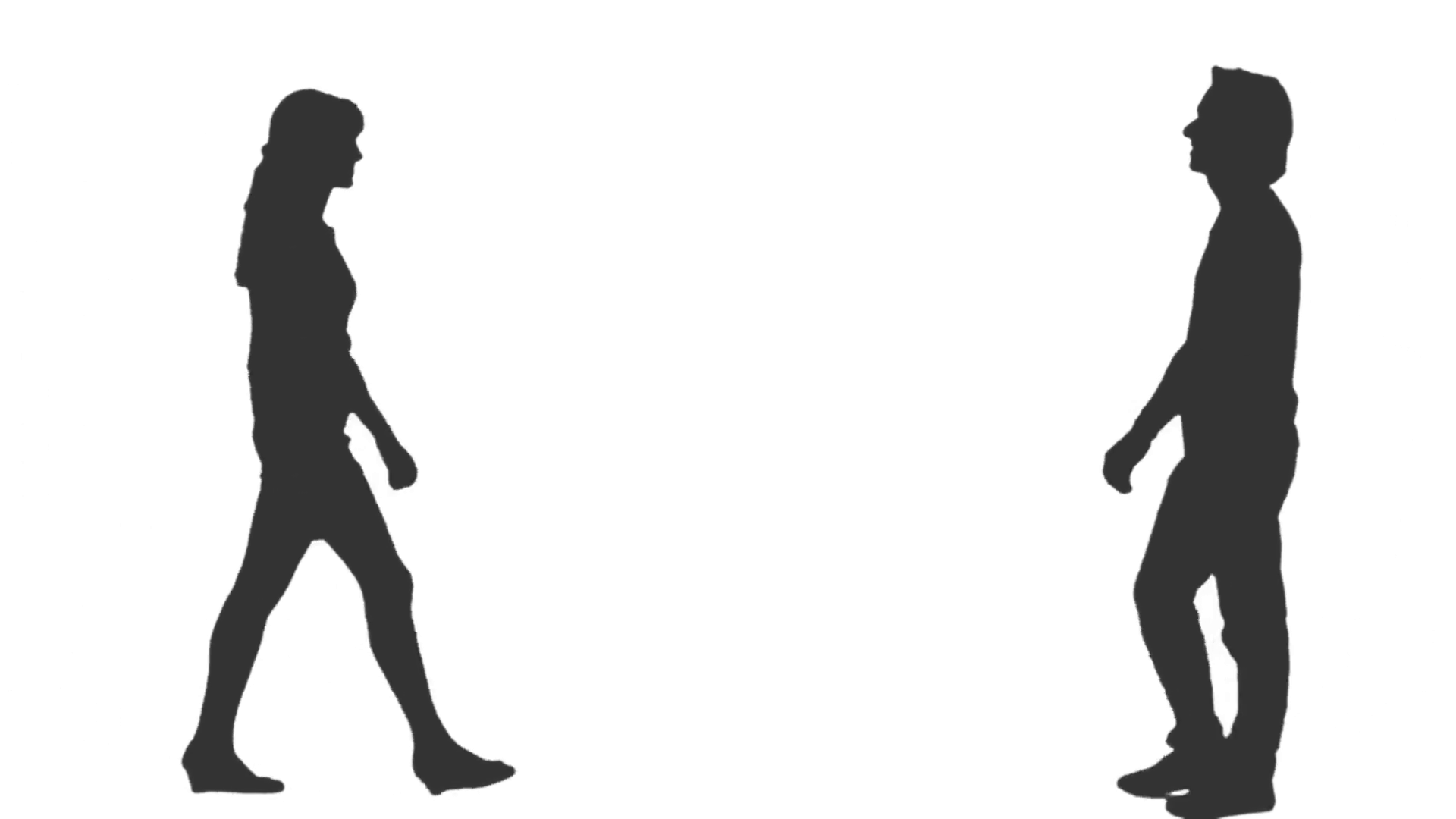 1920x1080 Silhouette Of A Male Amp Female Going To Meet Each Other Amp Kissing