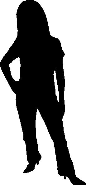 276x593 Woman Silhouette Clip Art