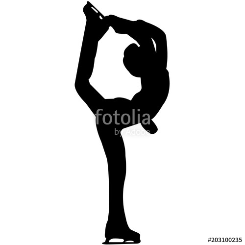 500x500 Man Ice Skating Silhouette, Male Ice Skater Clipart, Boy Figure