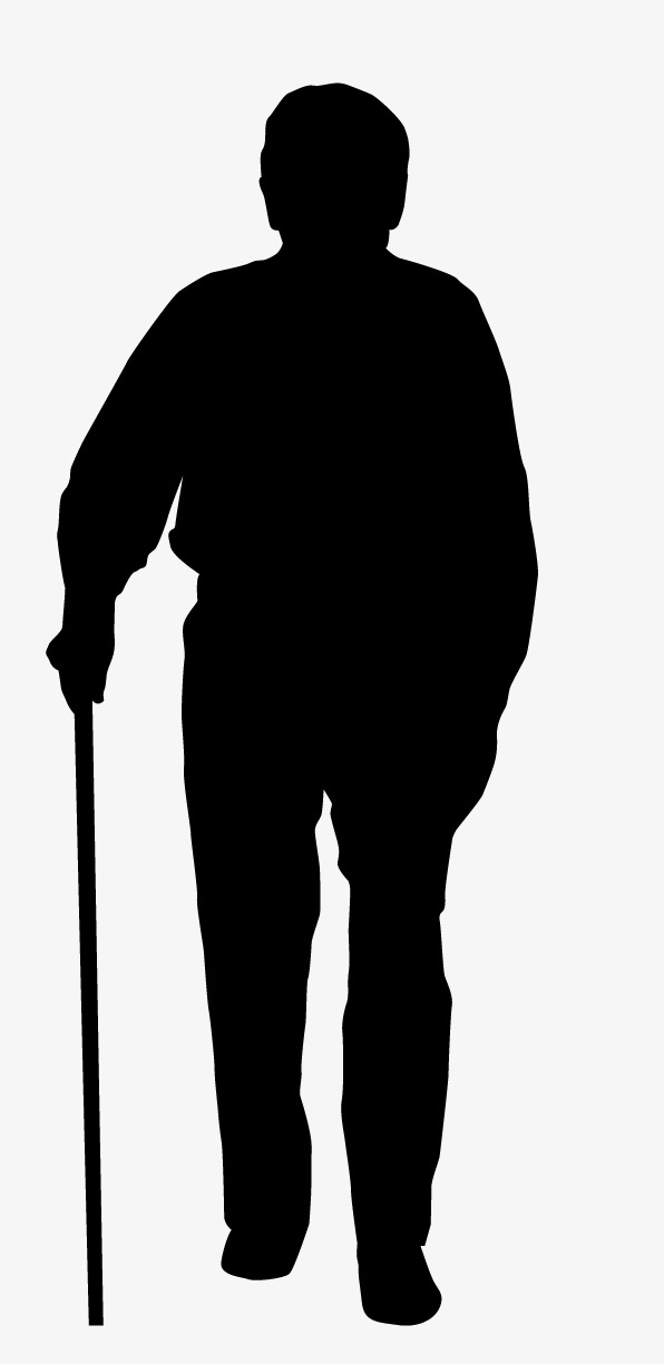 596x1224 Silhouette Of The Elderly Png Images Vectors And Psd Files