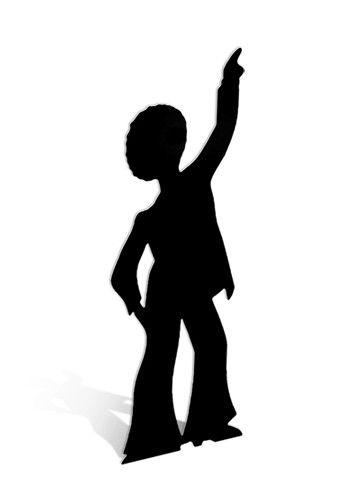 340x500 Disco Dancer Male Silhouette Cardboard Cutout Figure 190cm Tall
