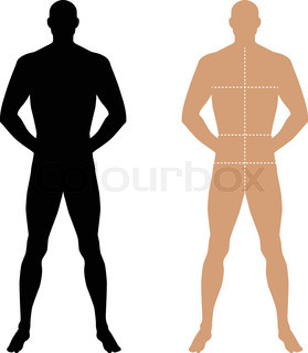279x320 Fashion Body Full Length Bald Template Figure Silhouette (Front