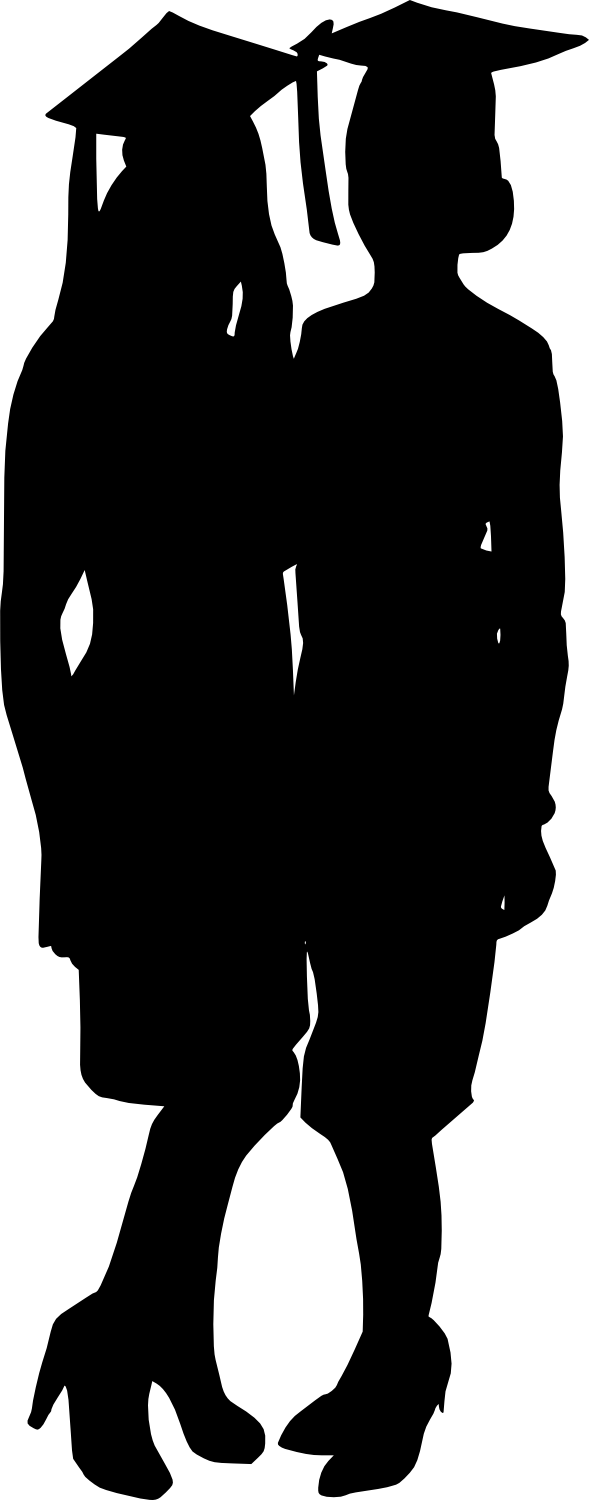 Male Graduation Silhouette