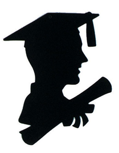 388x500 Get Your Boy Graduate Silhouette Decoration