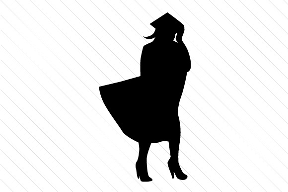 580x386 Graduation Silhouettes Male And Female Svg Cut File By Creative