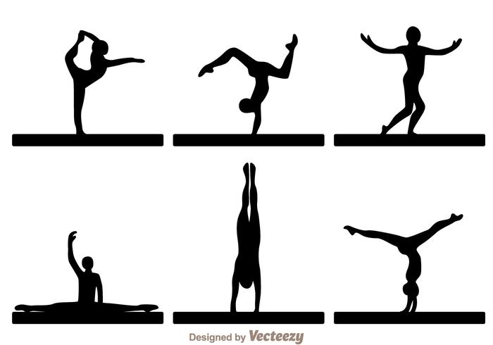 700x490 Vector Gymnast Silhouettes