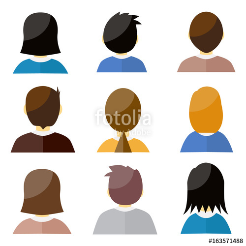 500x500 Male And Female Head Silhouettes Avatar, Profile Vector Icons