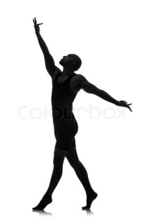 212x320 Silhouette Of Male Dancer Isolated On White Stock Photo Colourbox