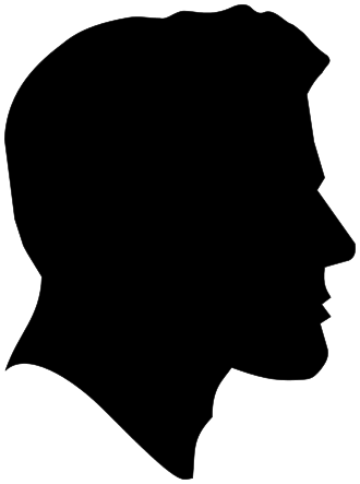 330x443 Male Profile Clipart