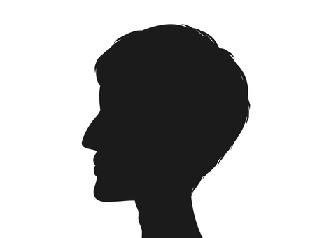 453x340 Free Cliparts Male, Silhouette, Profile